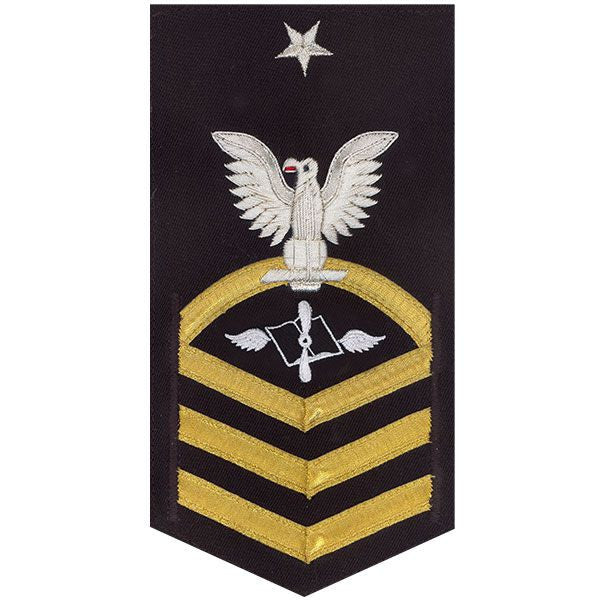 Navy E8 Rating Badge: Aviation Maintenance Administration - vanchief on blue