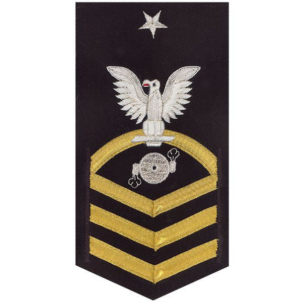Navy E8 MALE Rating Badge: Boiler Technician - vanchief on blue