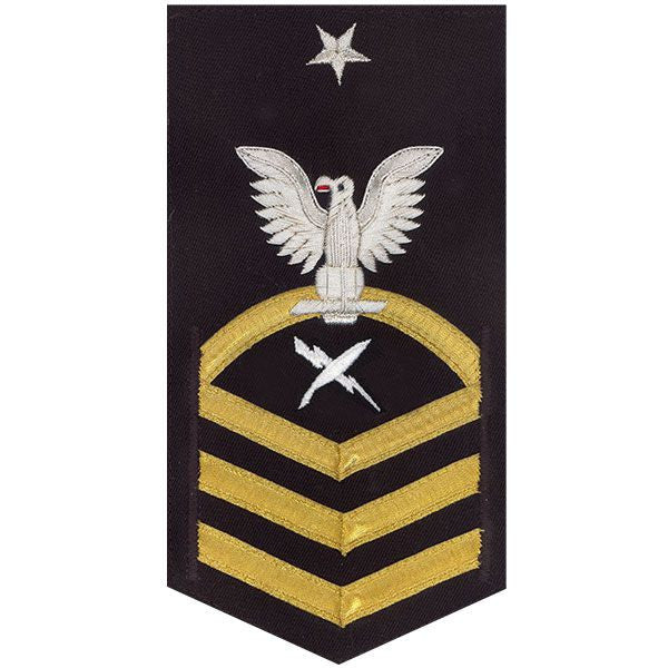 Navy E8 Rating Badge: Cryptologic Technician - vanchief on blue