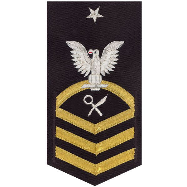 Navy E8 Rating Badge: Intelligence Specialist - vanchief on blue