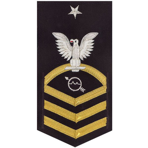 Navy E8 Rating Badge: Operations Specialist - vanchief on blue