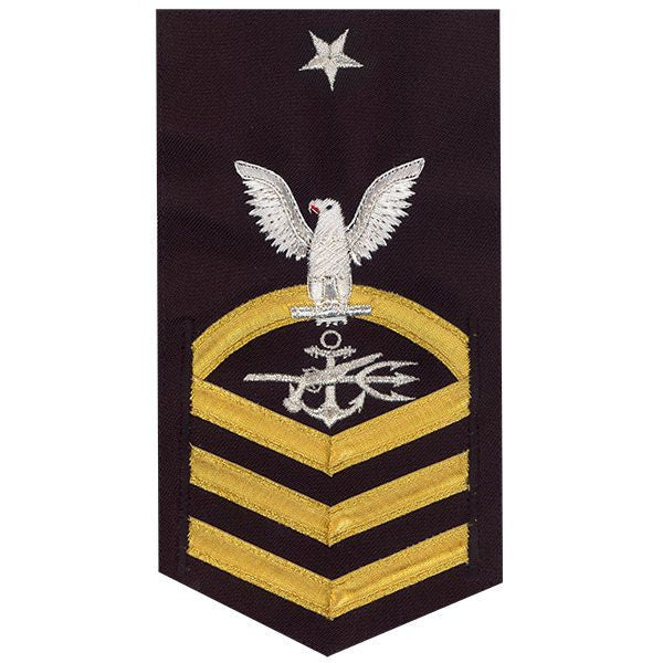 Navy E8 MALE Rating Badge: Special Warfare Operator - vanchief on blue