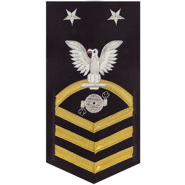 Navy E9 MALE Rating Badge: Boiler Technician - vanchief on blue