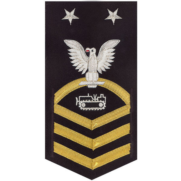Navy E9 Rating Badge: Equipment Operator - vanchief on blue