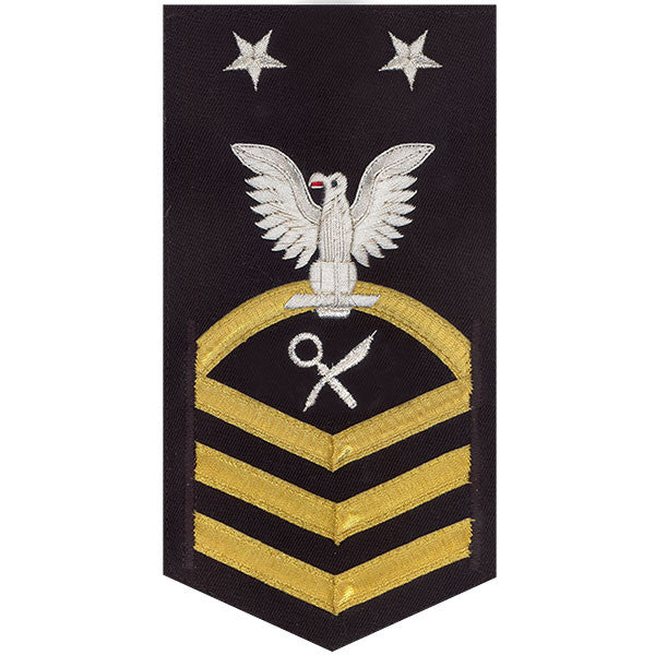 Navy E9 Rating Badge: Intelligence Specialist - vanchief on blue
