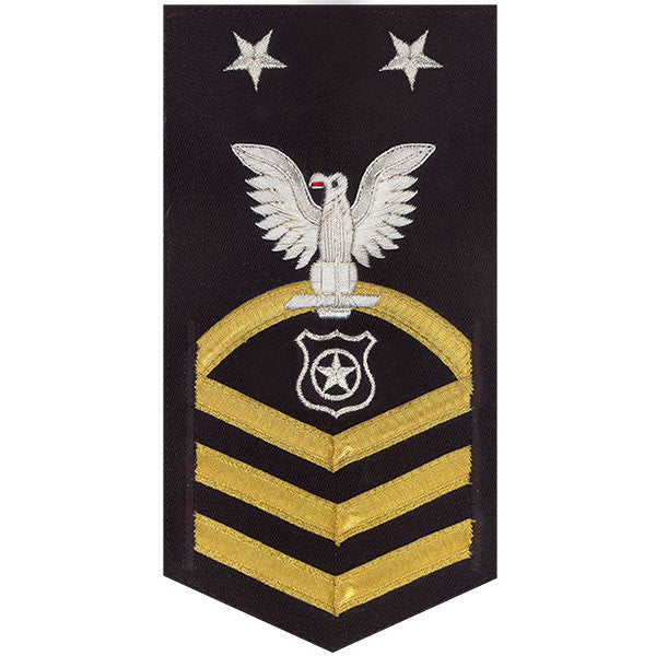 Navy E9 MALE Rating Badge: Master At Arms - vanchief on blue