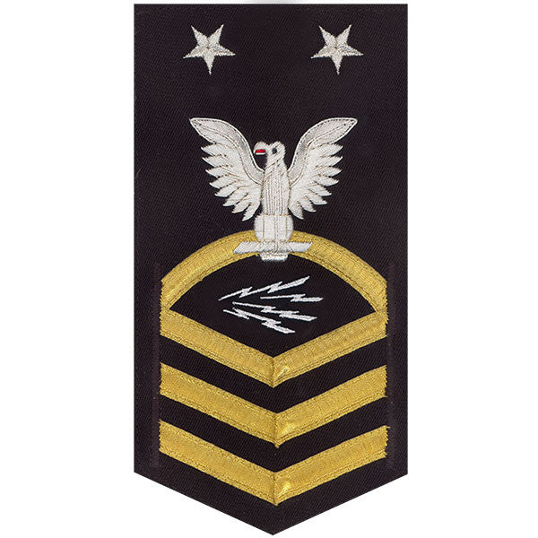 Navy E9 MALE Rating Badge: Information Technician Specialist - vanchief on blue