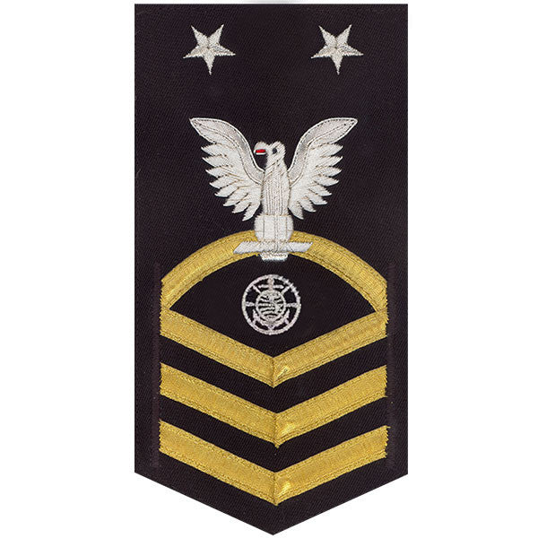Navy E9 MALE Rating Badge: Religious Programs Specialist - vanchief on blue