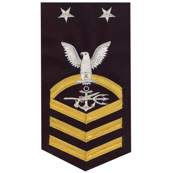 Navy E9 MALE Rating Badge: Special Warfare Operator - vanchief on blue