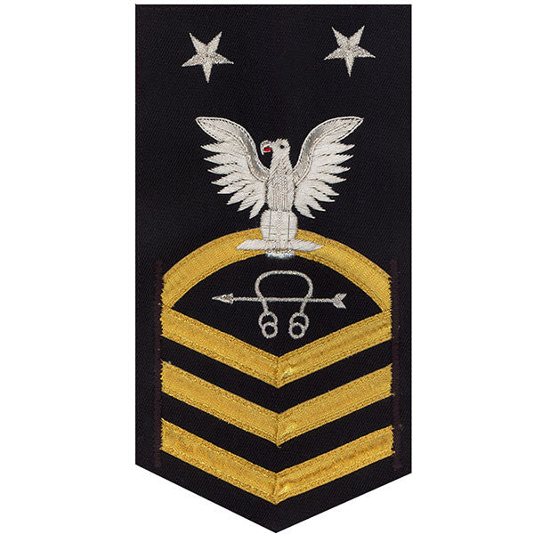 Navy E9 Rating Badge: Sonar Technician - vanchief on blue