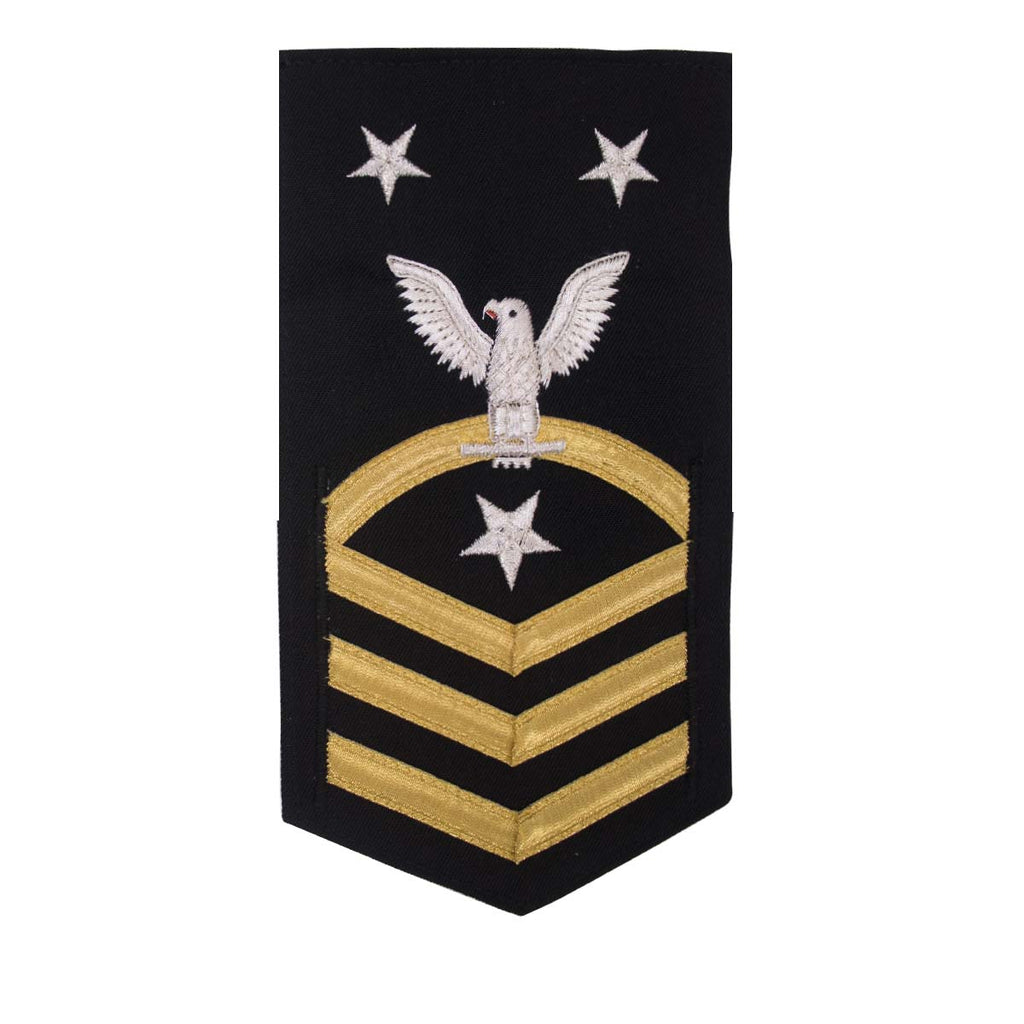 Navy E9 MALE Rating Badge: Command Master Chief - vanchief on blue