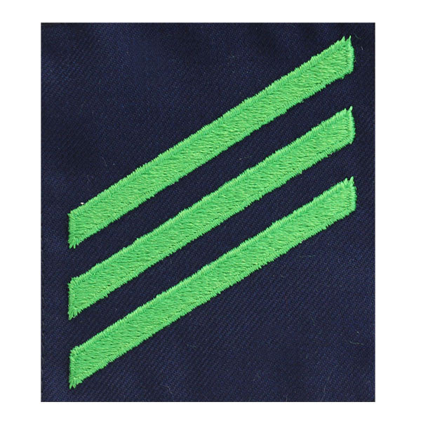 Coast Guard Ratting Badge: Group Rate E3 Airman - blue serge