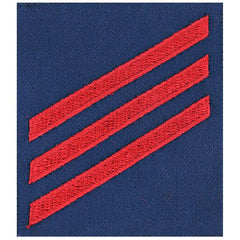 Coast Guard Ratting Badge: Group Rate E3 Fireman - blue serge