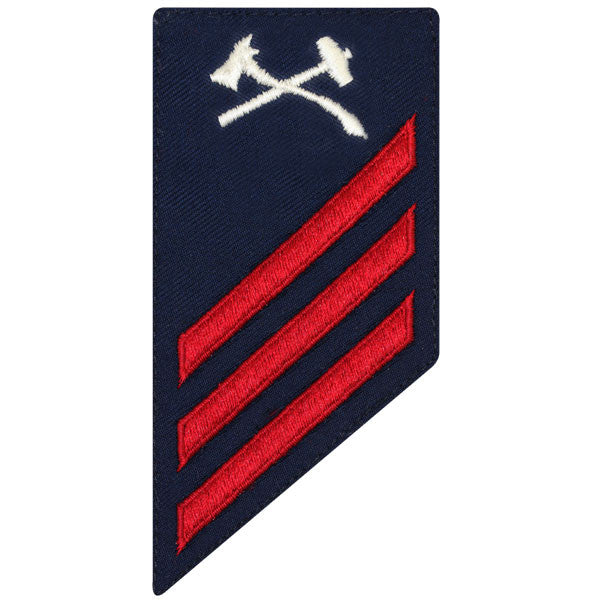 Coast Guard E3 Rating Badge: DAMAGE CONTROL - BLUE