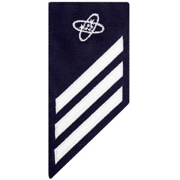 Coast Guard E3 Rating Badge: ELECTRONICS TECHNICIAN - BLUE