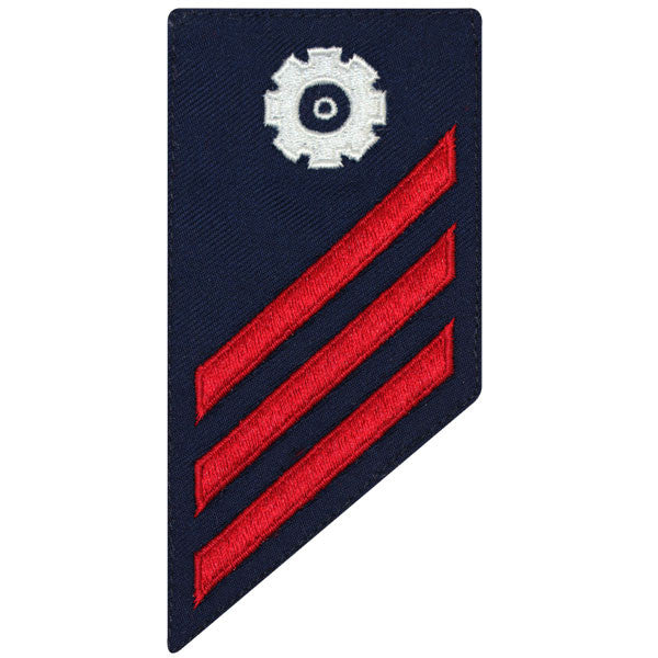 Coast Guard E3 Rating Badge: MACHINERY TECHNICIAN - BLUE
