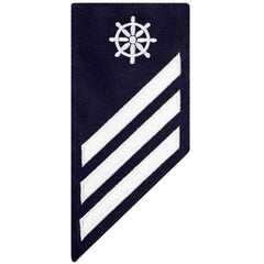 Coast Guard E3 Rating Badge: QUARTERMASTER - BLUE