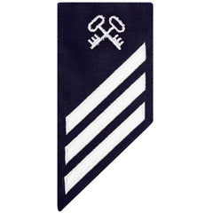 Coast Guard E3 Rating Badge: STOREKEEPER - BLUE