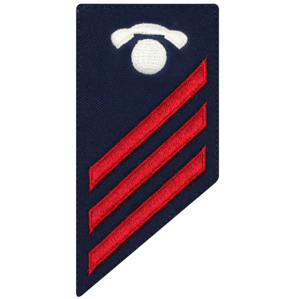 Coast Guard E3 Rating Badge: Information Specialist - BLUE