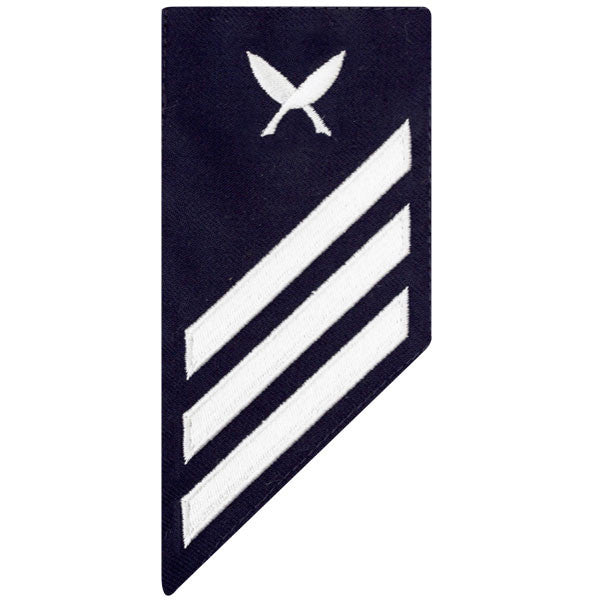 Coast Guard E3 Male Rating Badge: YEOMAN - BLUE
