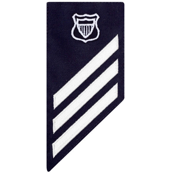 Coast Guard E3 Male Rating Badge: MARITIME ENFORCEMENT - BLUE
