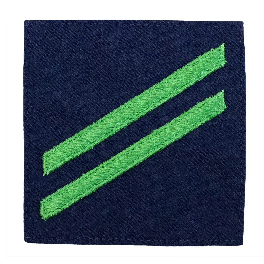 Coast Guard Ratting Badge: Group Rate E2 Airman - blue serge