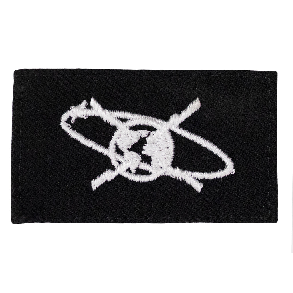 Navy Rating Badge: Striker Mark for MC Mass Communication Specialist - Serge for dress blue uniform