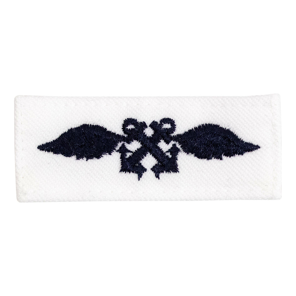 Navy Rating Badge: Striker Mark for AB Aviation Boatswains Mate - white CNT for dress uniforms