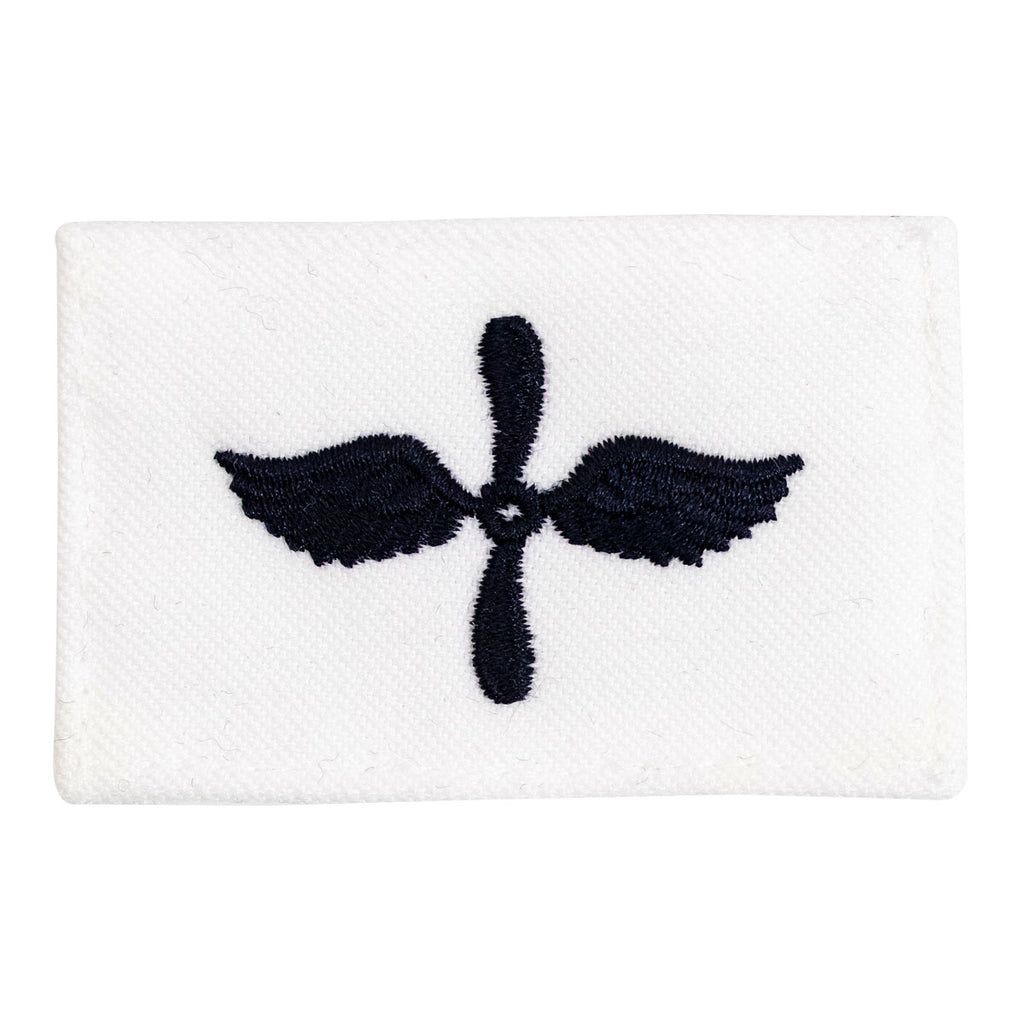 Navy Rating Badge: Striker Mark for AD Aviation Machinist Mate - white CNT for dress uniforms