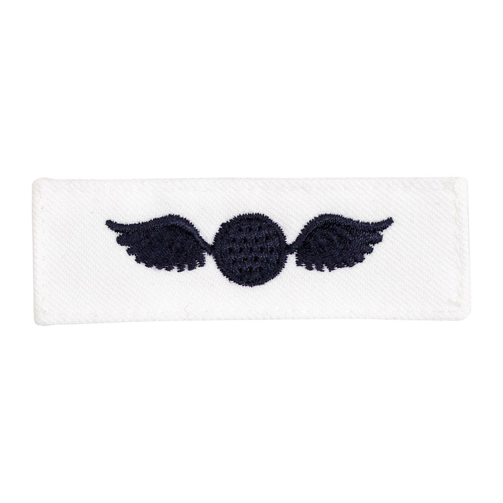 Navy Rating Badge: Striker Mark for AE Aviation Electricians Mate - white CNT for dress uniforms