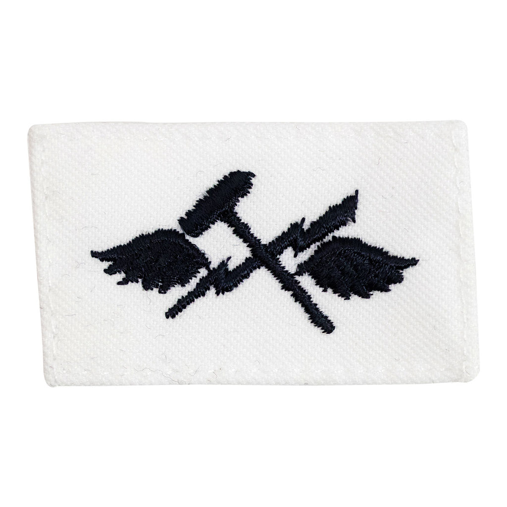 Navy Rating Badge: Striker Mark for AS Aviation Supply Equipment Technician - white CNT for dress uniforms