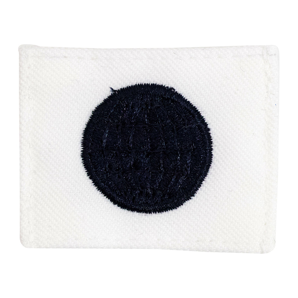 Navy Rating Badge: Striker Mark for EM Electricians Mate - white CNT for dress uniforms