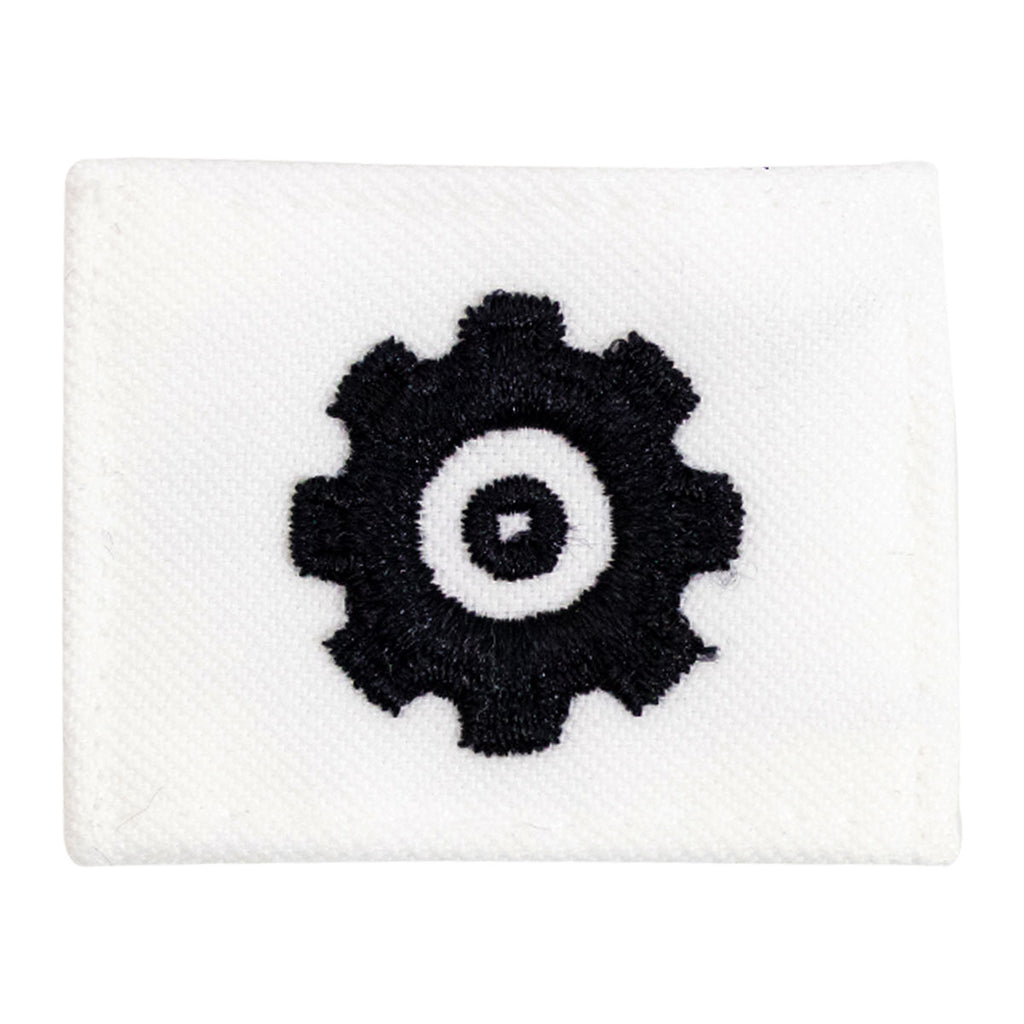 Navy Rating Badge: Striker Mark for EN Engineman - white CNT for dress uniforms