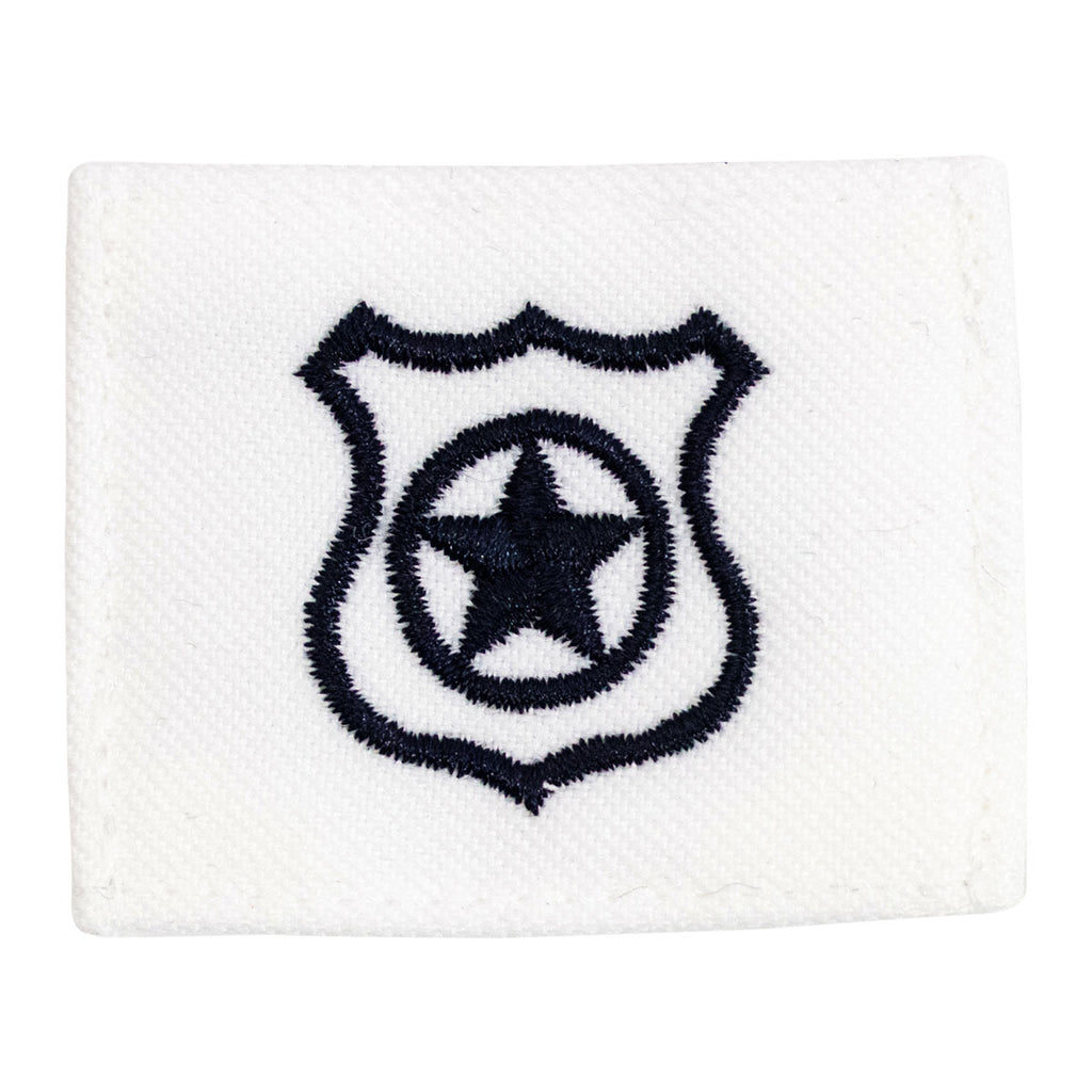 Navy Rating Badge: Striker Mark for MA Master at Arms - white CNT for dress uniforms