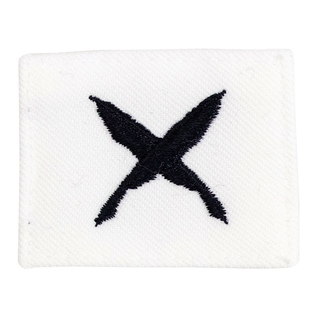 Navy Rating Badge: Striker Mark for YN Yeoman- white CNT for dress uniforms