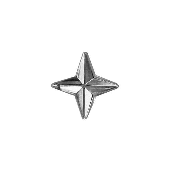 Ribbon Attachment: Compass Rose - Silver