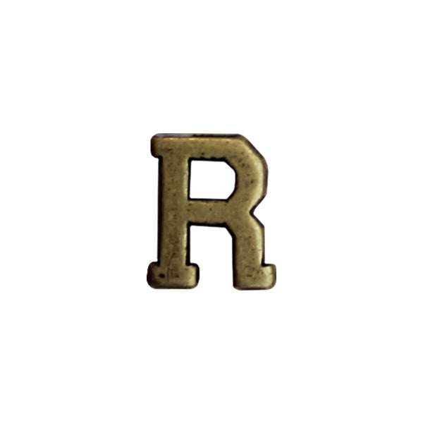 NO PRONG Miniature Letter R Attachment for Miniature Medals - bronze