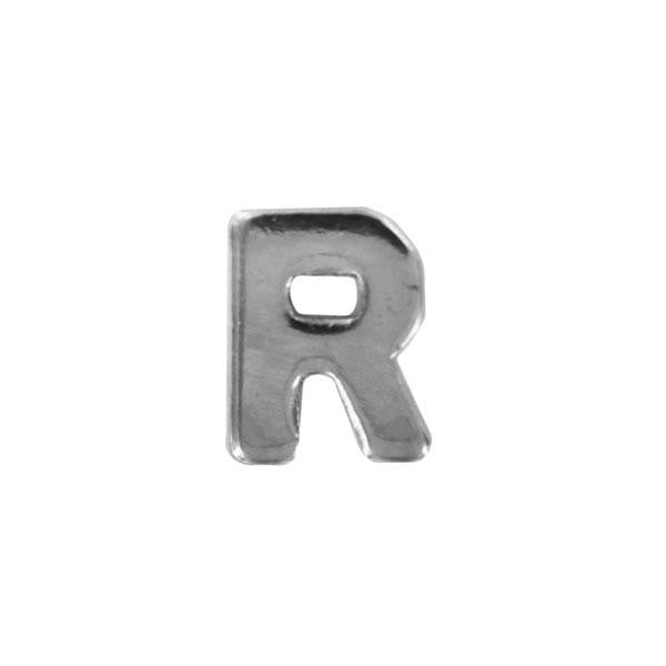 Letter R Attachment for Young Marines, Navy League and Sea Cadets Ribbon - Silver