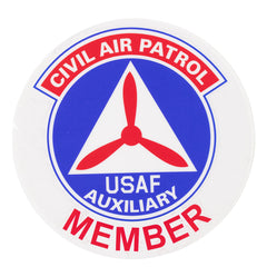 Civil Air Patrol Window Cling: Seal - (MEMBER) 4 inches