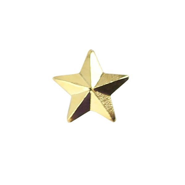 NO PRONG Ribbon Attachments: Star - 5/16 inch gold