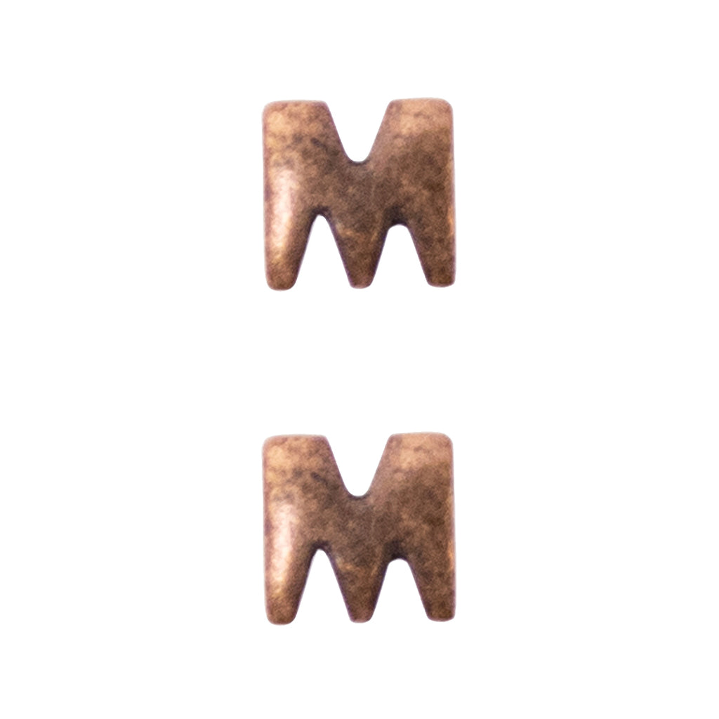 Letter M Attachment for Miniature Medal - bronze