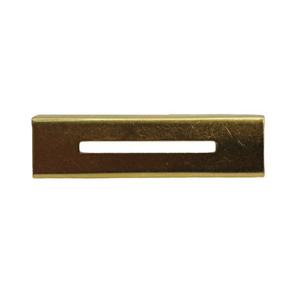 Front Clip for ribbon & full size medal - brass slide