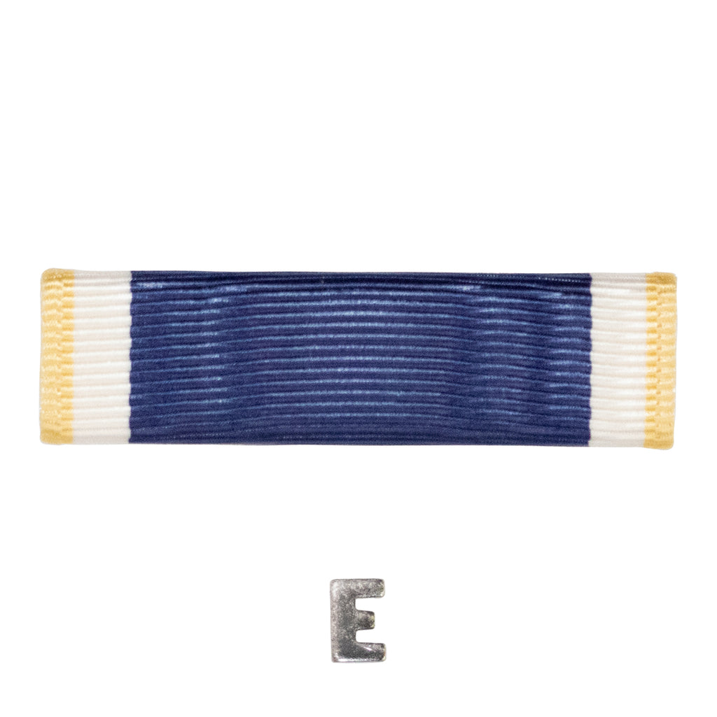 Navy Ribbon Unit: E for Efficiency with letter E for Efficiency