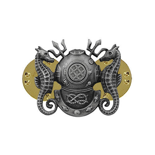 Navy Badge: Master Diver - miniature, oxidized