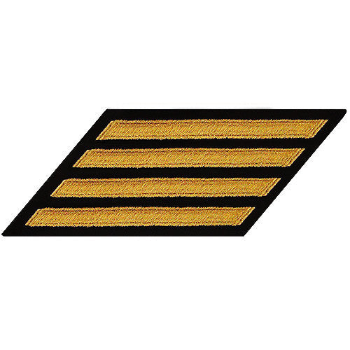 Navy Enlisted Hash Marks: Seaworthy Gold on Serge - set of 4