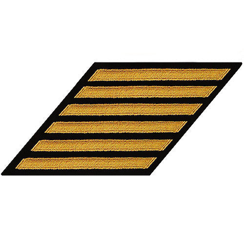 Navy Enlisted Hash Marks: Seaworthy Gold on Serge - set of 6