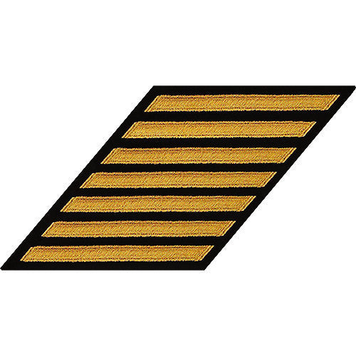 Navy Enlisted Hash Marks: Seaworthy Gold on Serge - set of 7