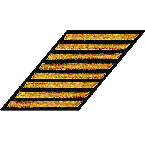 Navy Enlisted Hash Marks: Seaworthy Gold on Serge - set of 8