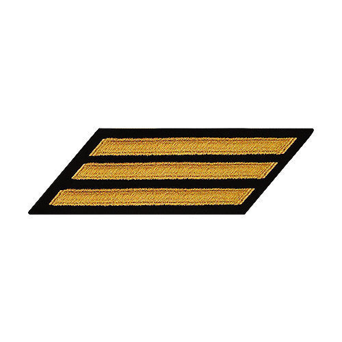 Navy Hash Marks: Seaworthy Gold on Serge - female, set of 3