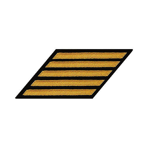 Navy Hash Marks: Seaworthy Gold on Serge - female, set of 5